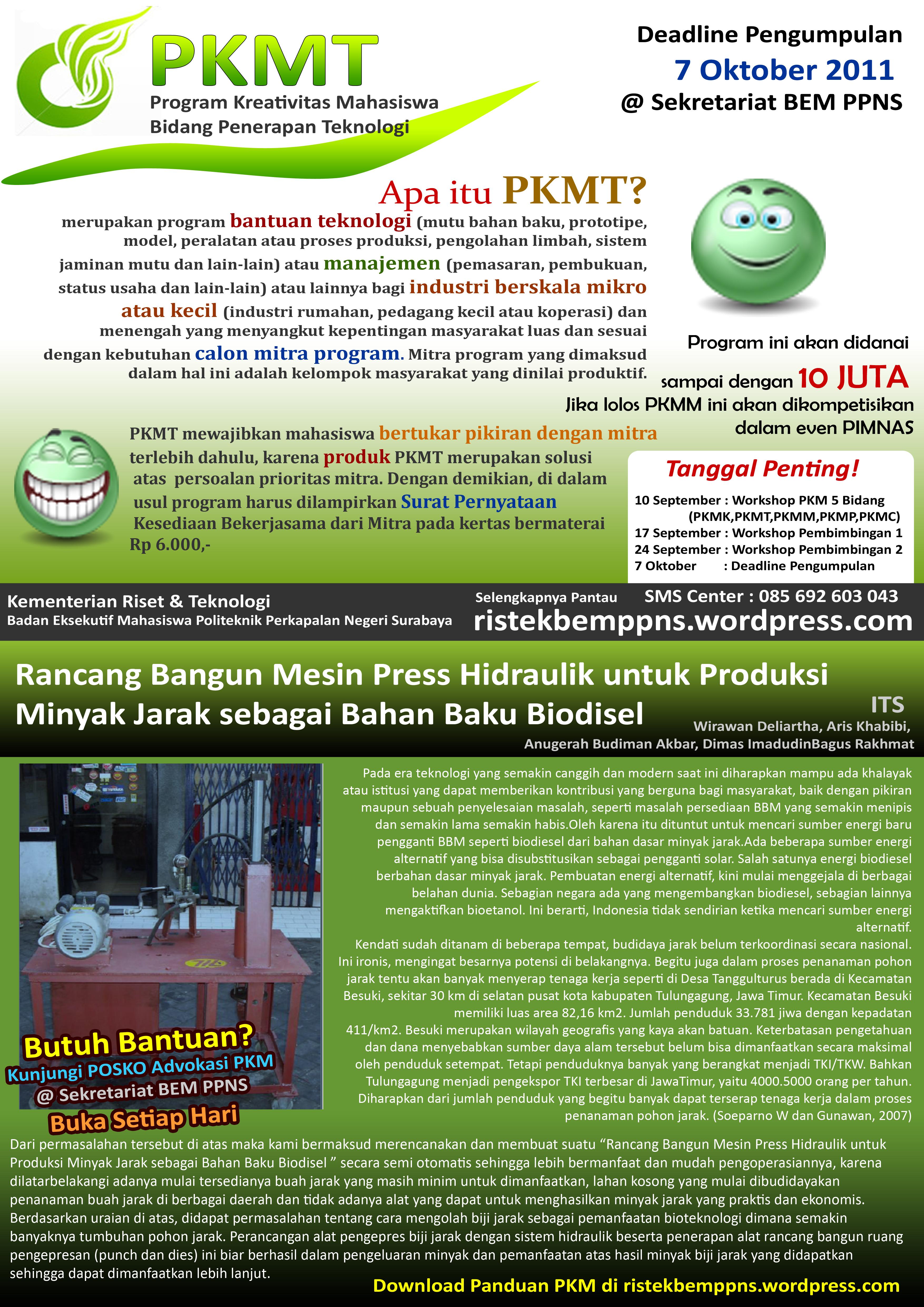 Contoh Proposal PKMK (Download)